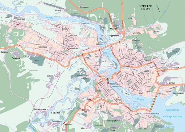 Иркутск на карте России
