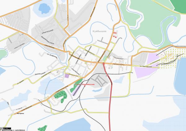 Карта Куйбышева с улицами