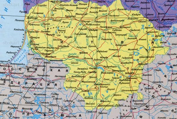 Карта Литвы на русском языке