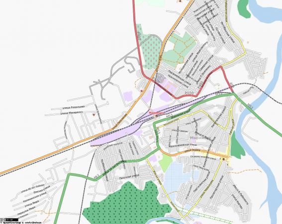 Карта Мариинска с улицами