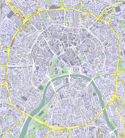 Москва на карте России