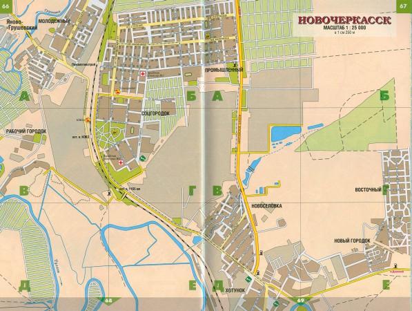 Новочеркасск на карте России