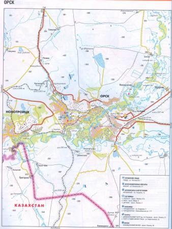 Орск на карте России