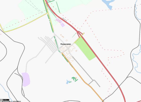 Карта Полысаево с улицами схематичная