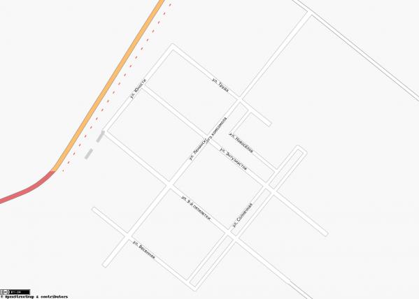 Карта Сосновоборска с улицами