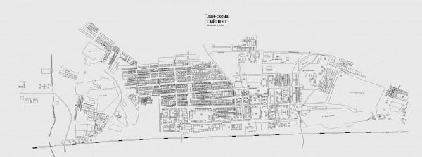Карта Тайшета с улицами