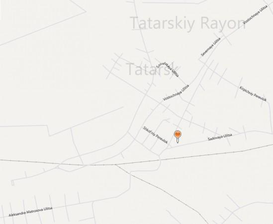 Карта Татарска с улицами