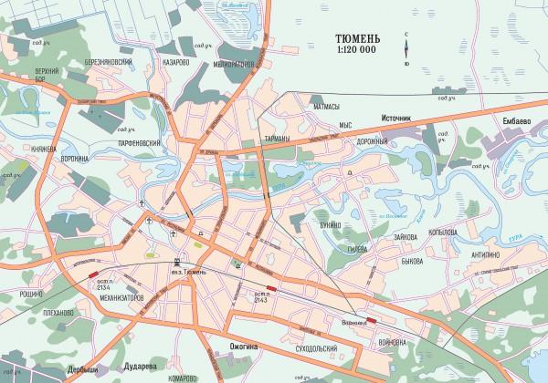 Тюмень на карте России