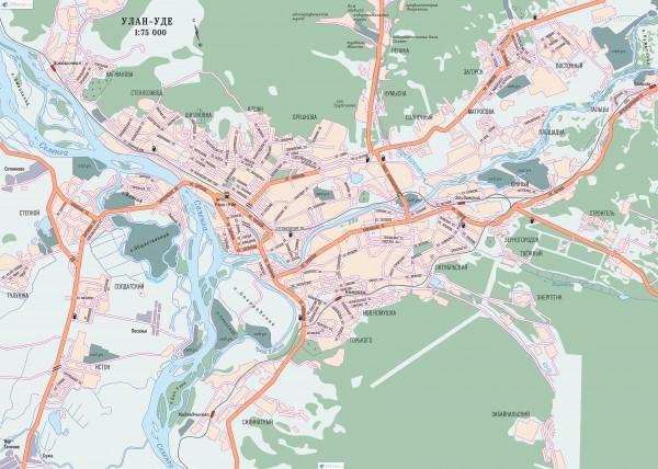 Улан Удэ на карте России