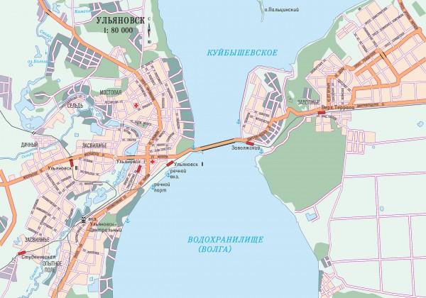 Ульяновск на карте России