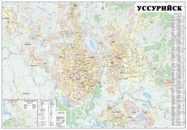 Уссурийск на карте России