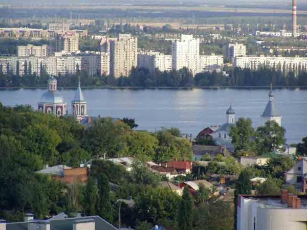 Воронеж на карте России
