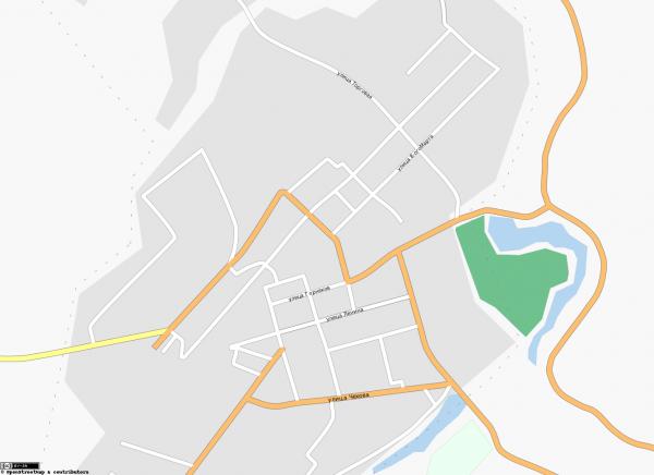 Карта города Киреевск с улицами схематичная