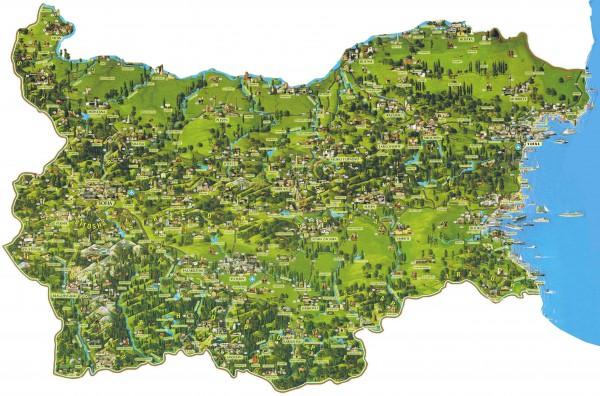 Карта побережья Болгарии.