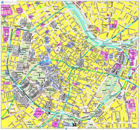 Карта Вены. Центр