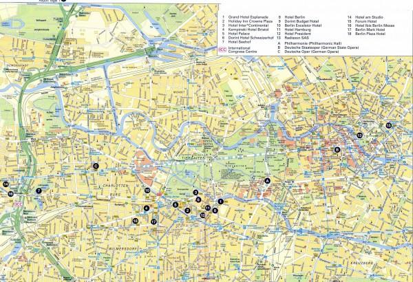 Карта улиц Берлина
