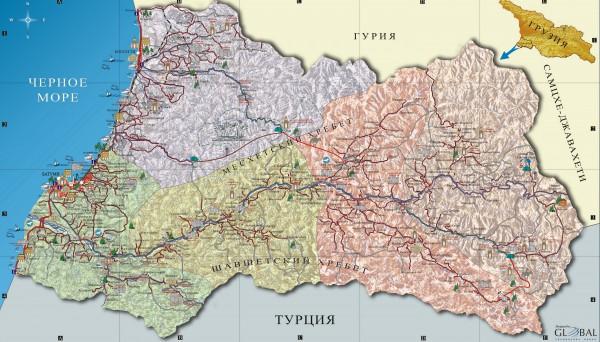Аджария. Карта