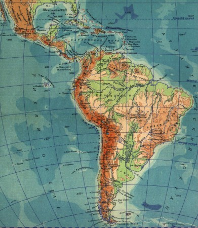 Карта Южной Америки на русском