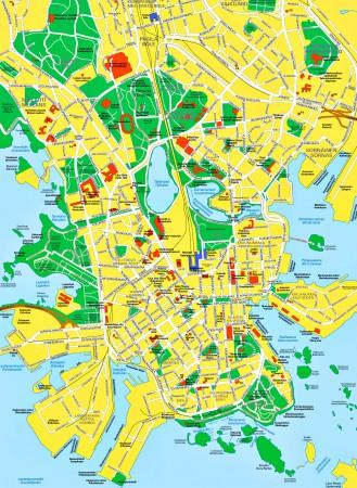 Хельсинки. Карта города