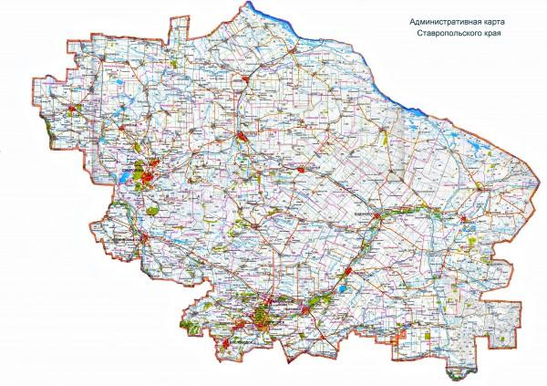 Карта Ставропольского края по районам