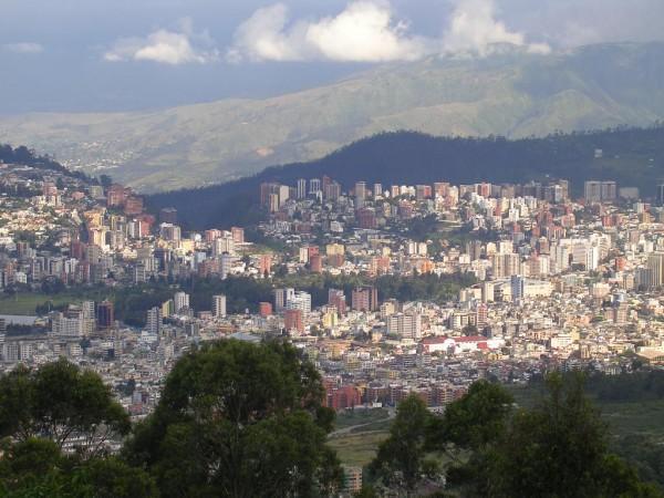 Карта Кито