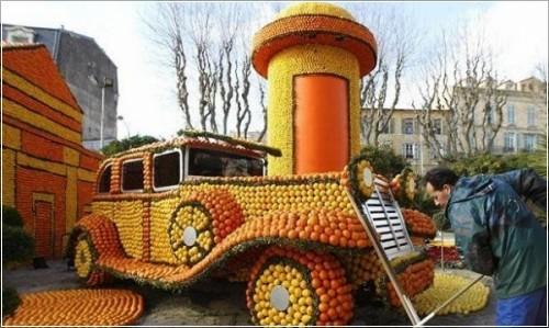 Эйфелева башня из цитрусовых и другие сюрпризы Фестиваля лимонов