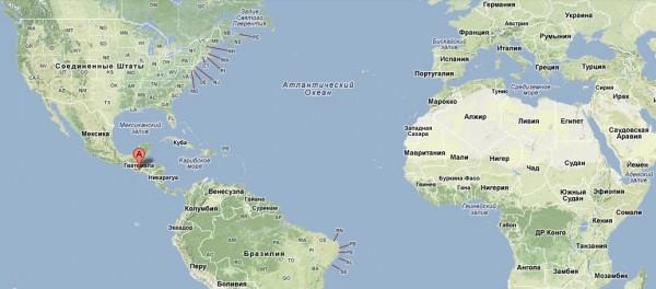 Гватемала на карте