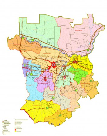 Карта Чечни по районам