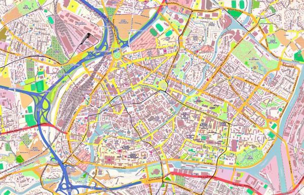 Страсбург на карте