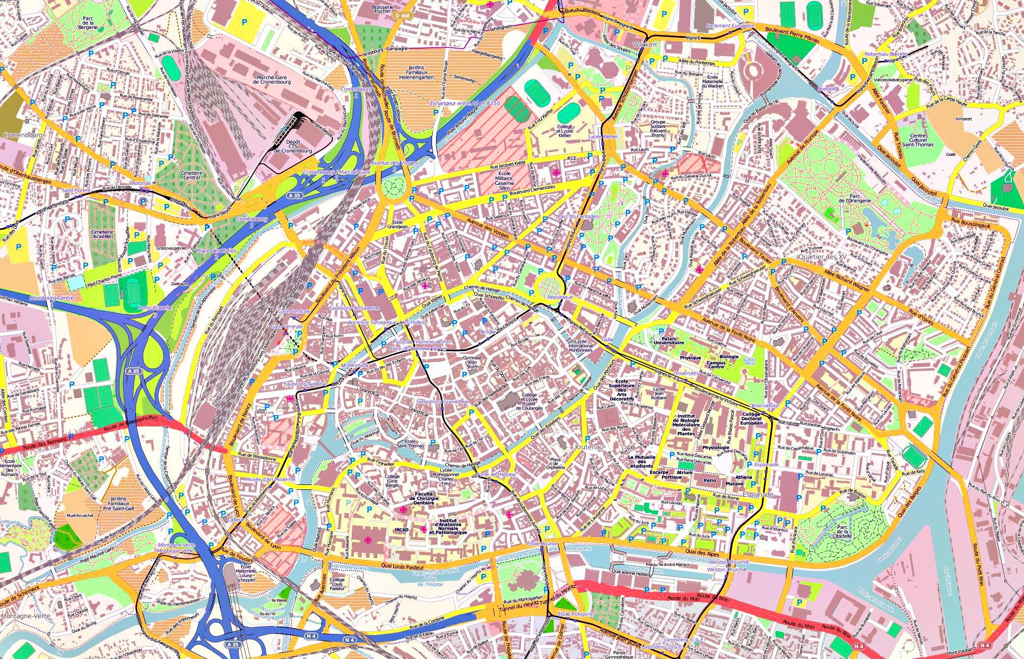Strasburg Na Karte