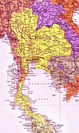 Карта Таиланда на русском языке