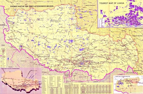 Тибет на карте мира