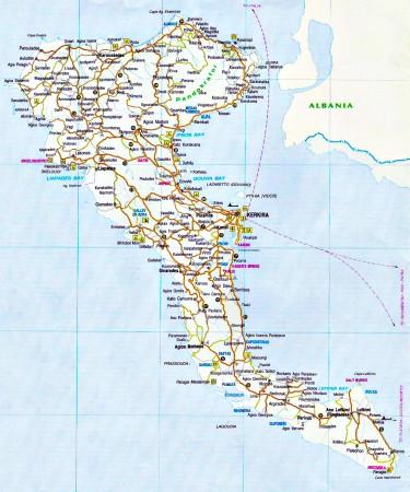 Карта Греции с островами